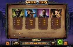 таблица выплат Golden Colts